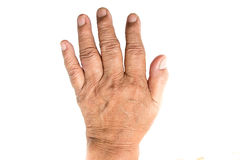 Hand of old woman Stock Images