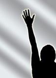 hand one voice vote Arkivbilder