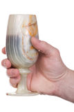 Hand, onyx goblet Stock Photography