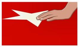 Hand op doodskist van Turkse militair Stock Afbeeldingen