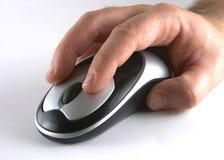 Hand op muis royalty-vrije stock afbeelding