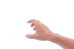 Hand op witte Geïsoleerde achtergrond, Stock Afbeelding