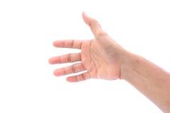 Hand op witte Geïsoleerde achtergrond, Royalty-vrije Stock Foto
