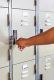 Hand open locker Stock Photography