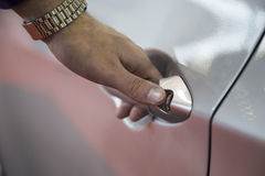 Hand Opening a Car Royalty Free Stock Images