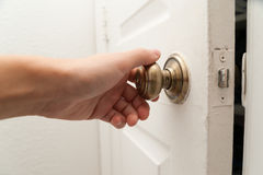 Free Hand Opening The Door Royalty Free Stock Photos - 56205718