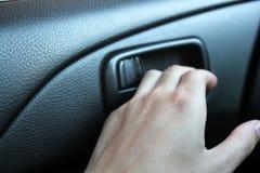 Hand opens car door. Car stock photo