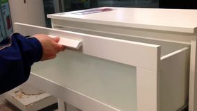 A hand opens a drawer stock video footage