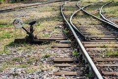 Hand Operated Railroad Switch Near Haydarpasa Royalty Free Stock Photo