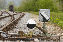 Free Hand-operated Railway Switch Stock Photo - 19749390