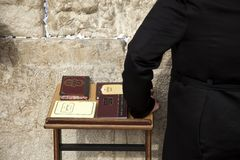 Psalms Books at the Wailing Wall Stock Photo
