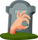 Hand out of the grave Royalty Free Stock Images