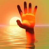 Hand out of Water Royalty Free Stock Photos
