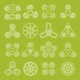 Different outline spinners Royalty Free Stock Images
