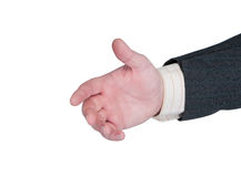 Hand outstretched for handshake. Stock Photos