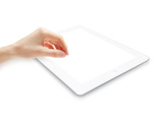 Hand with pad computer Royalty Free Stock Image