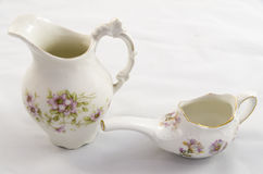 Hand paiinted antique porcelain pieces Royalty Free Stock Photography