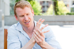 Hand pain Royalty Free Stock Photography