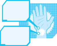 Hand pain diagram Royalty Free Stock Photography