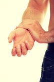 Hand Pain Stock Image