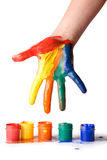 Hand in paint Royalty Free Stock Photo