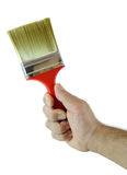Hand with paint brush Royalty Free Stock Image