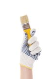 Hand with paint brush. Stock Photography