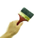 Hand and Paint brush Stock Images