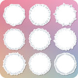 Hand paint girly frame label 03 Royalty Free Stock Images