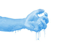 Hand in the paint Stock Images