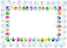 Hand paint print border Stock Photography