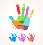 Hand of paint stains Stock Photography