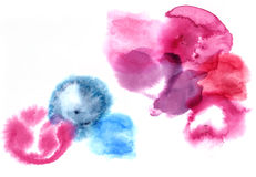 Hand paint watercolor painting illustration texture white backgr Stock Photos