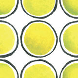 Hand paint watercolor polka dot seamless pattern Royalty Free Stock Photos