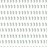 Hand paint watercolor seamless pattern with brunch of leaf. Seamless pattern with green leaf. Watercolor nature pattern Stock Photography