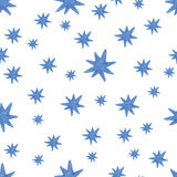 Hand paint  watercolor stars pattern Royalty Free Stock Photo