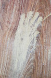 Hand paint on wood wall Royalty Free Stock Photography