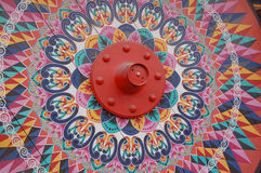 Hand paint wood wheel. A hand paint wood wheel use for decorative purposes royalty free stock photo