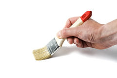 Hand with paintbrush Royalty Free Stock Images