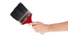Hand with paintbrush Royalty Free Stock Photos
