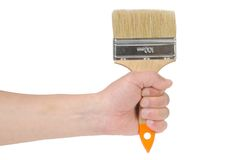 Hand and paintbrush Royalty Free Stock Photography