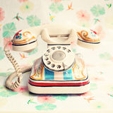 Hand paintd telephone Royalty Free Stock Images