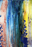 Hand painted abstract background. Hand painted acrylic abstract background with palette knife stock illustration