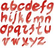 Hand painted alphabet Royalty Free Stock Photo