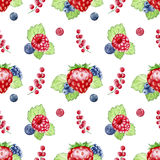 Hand painted berries pattern Royalty Free Stock Photography