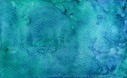 Hand painted blue watercolor background texture royalty free stock photo