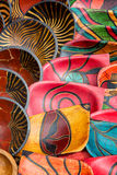 Hand painted bowls background Stock Image