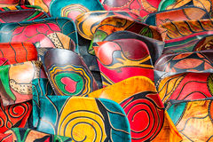 Hand painted bowls background Stock Photography