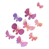 Hand painted butterfly flock Royalty Free Stock Image