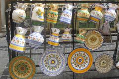 Hand Painted Ceramics, Souvenirs From Toledo, Spain Stock Images